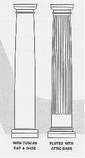 Columns for Crown columns fiberglass