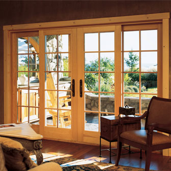 Sliding french doors for Sliding glass door to french door
